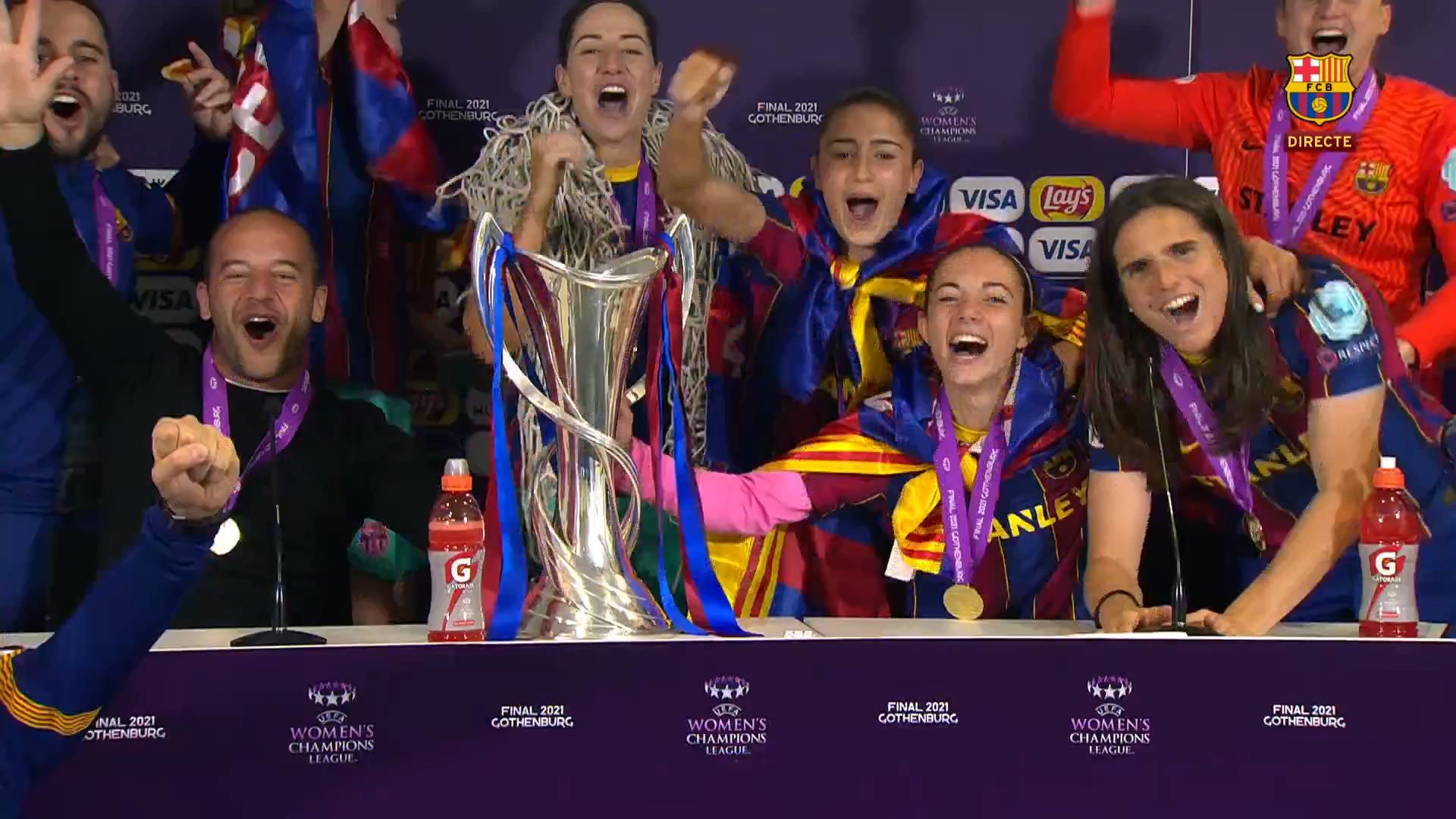 巾帼不让须眉!巴萨成首家包揽男女足欧冠的俱乐部