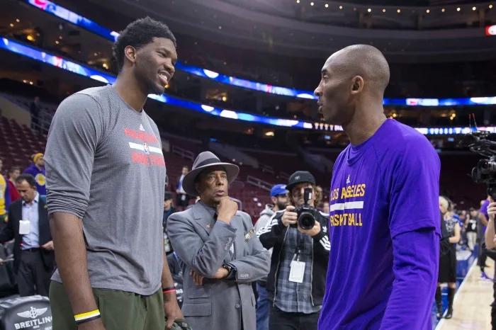 恩比德:我能进NBA是因为科比,我的后仰跳投是和他学的