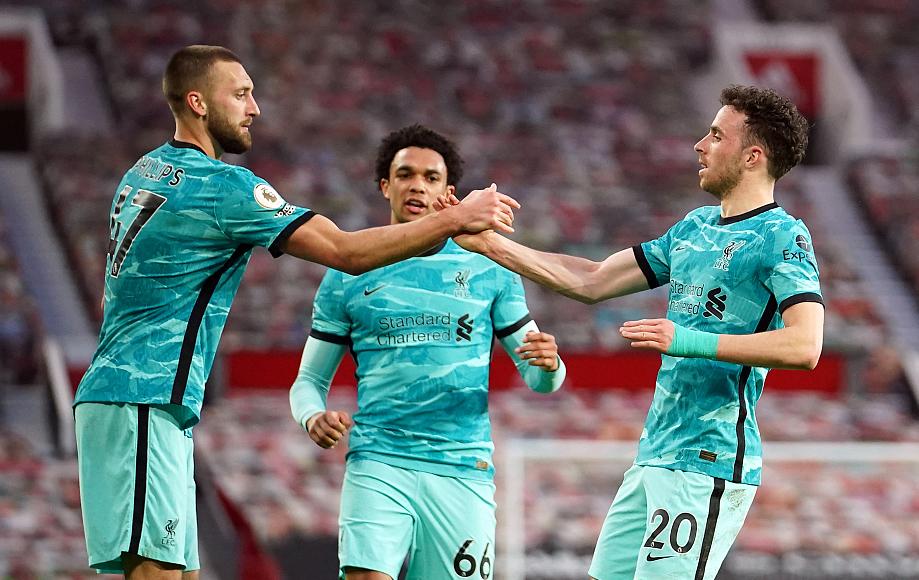 菲尔米诺双响B费破门,利物浦客场4-2逆转曼联距前四4分