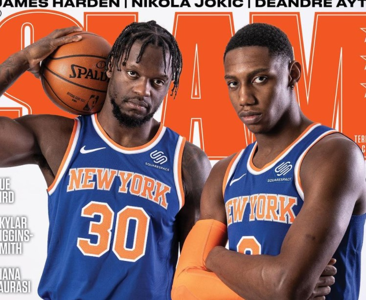 兰德尔晒自己和巴雷特登上扣篮杂志封面的照片:这太帅了