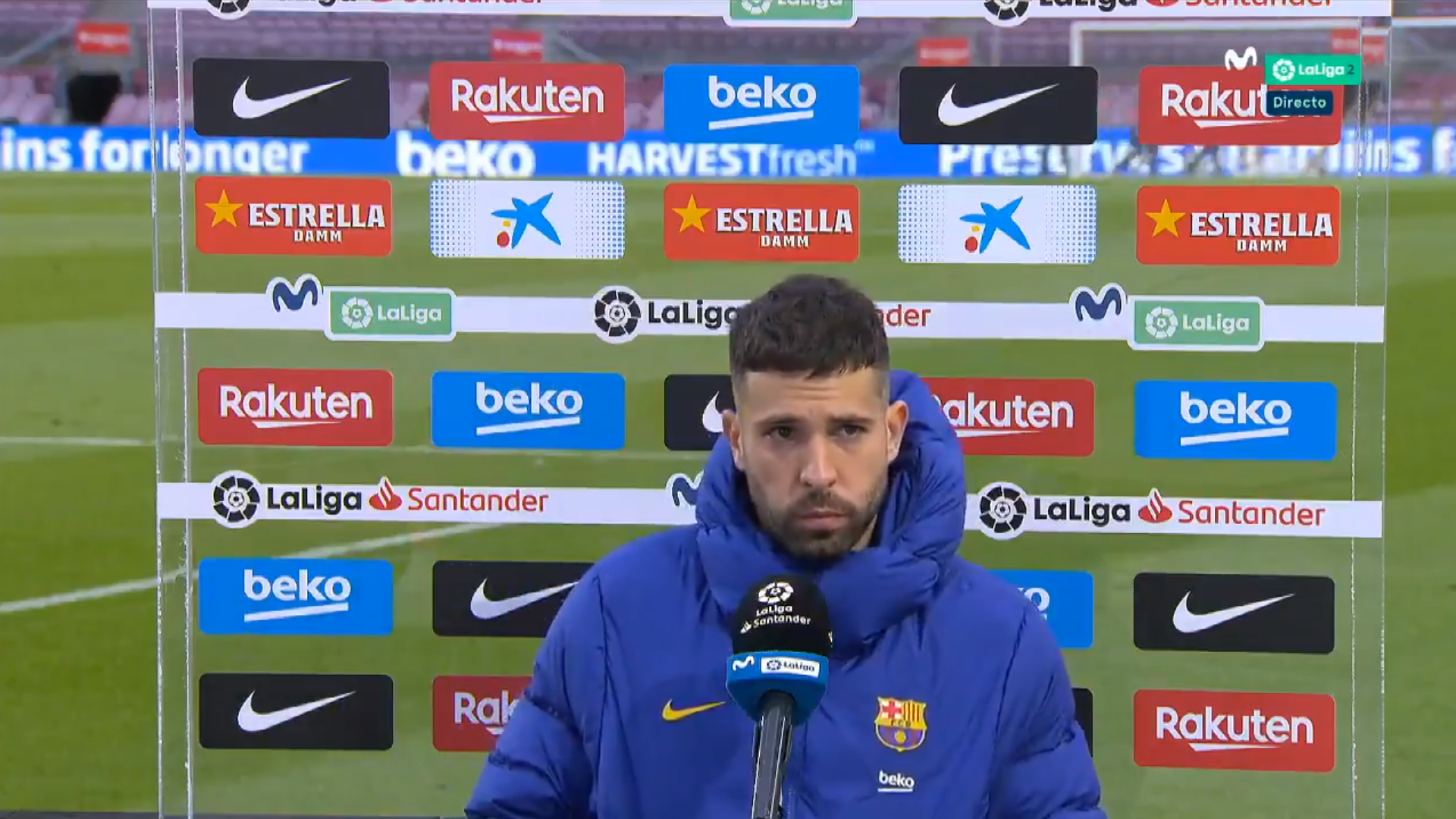 阿尔巴:对失利感到遗憾但这就是足球,希望梅西能留队