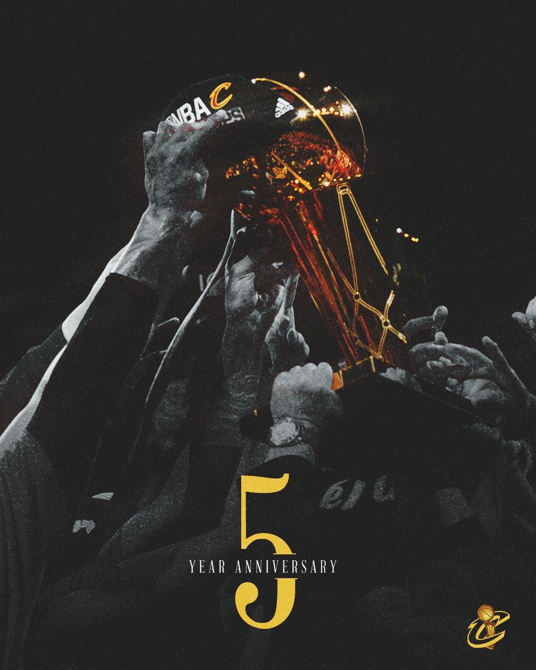 骑士官推发布夺冠5周年纪念海报及短片:5年前,历史被造就