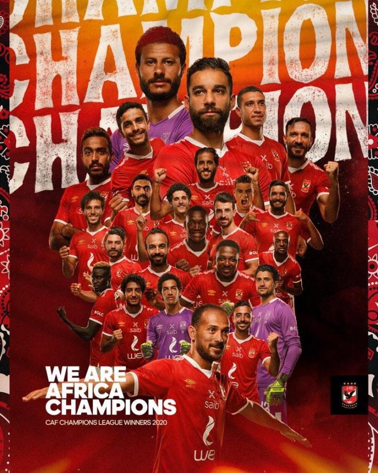 埃及豪门阿赫利第9次夺得非洲冠军联赛冠军,将参加世俱杯