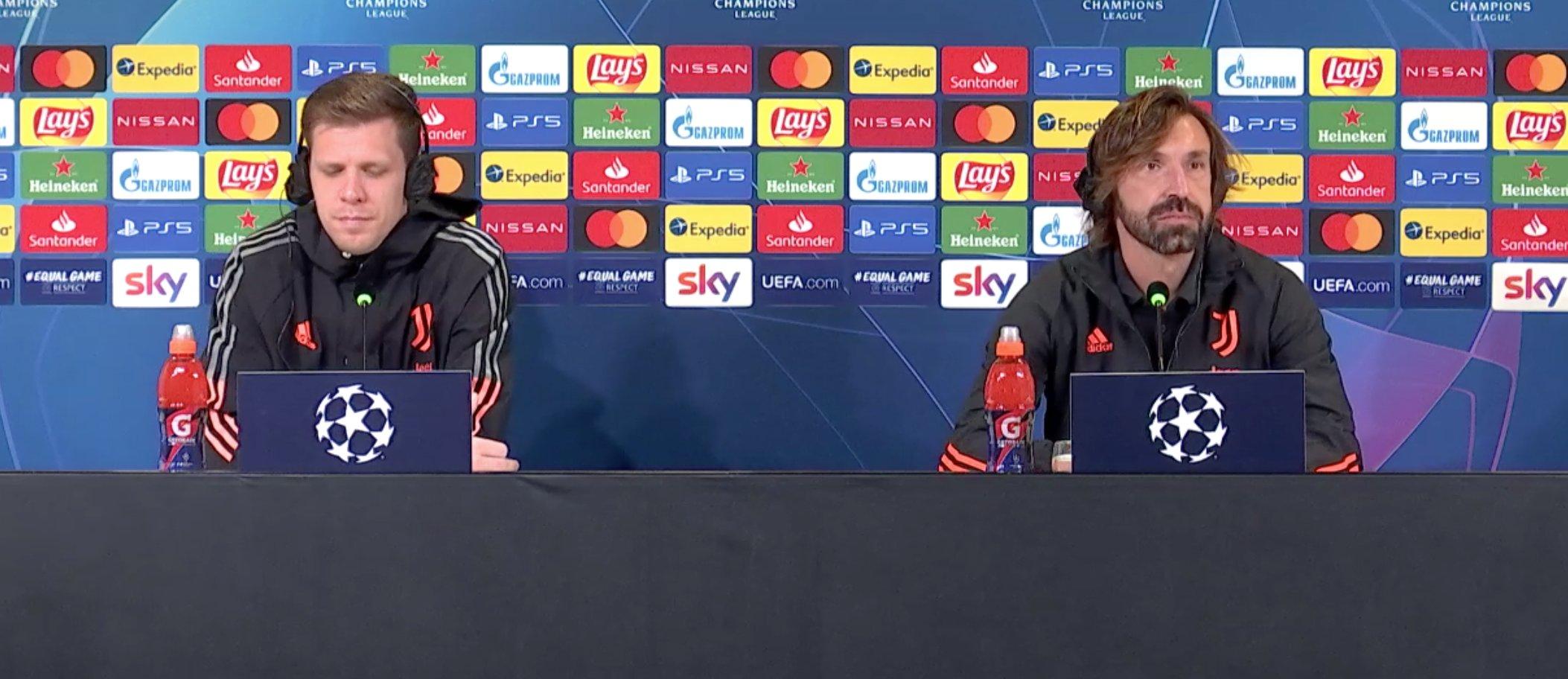 什琴斯尼谈皮尔洛:他就坐在我边上,我说错话首发就没了