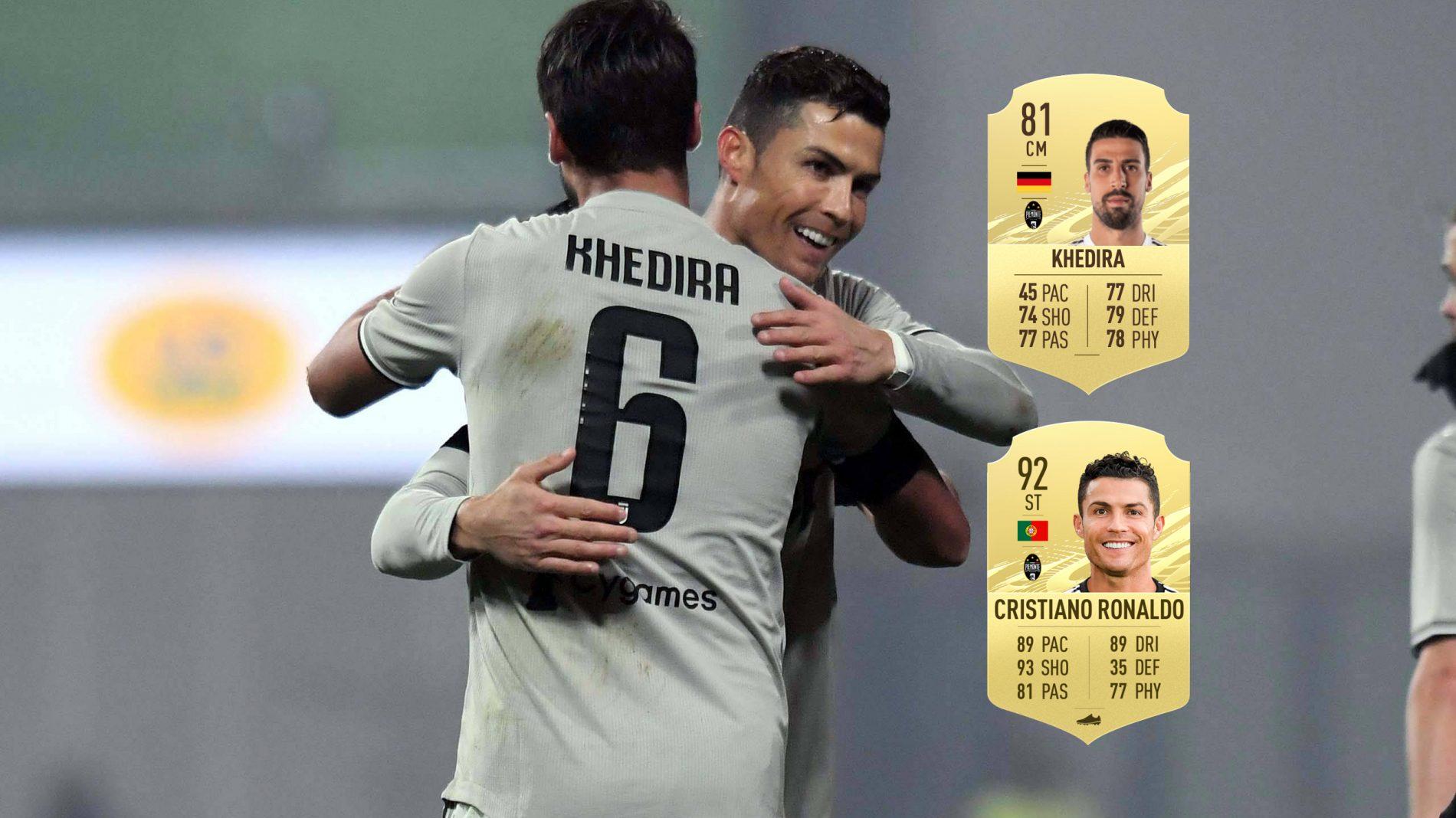 赫迪拉不满FIFA21速度值:C罗能比我快?他自己都不信吧