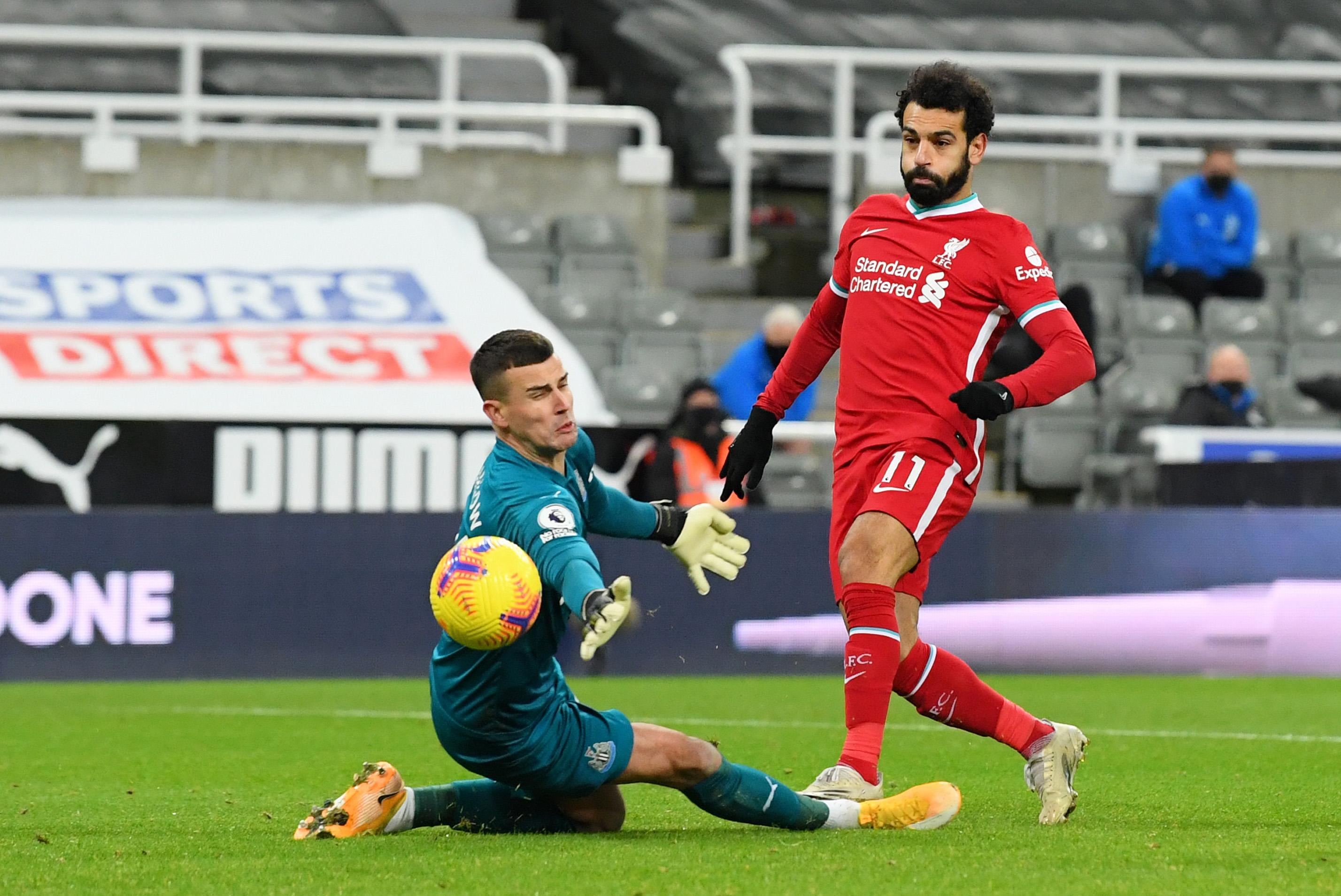 利物浦在英超联赛对阵纽卡的五连胜遭到结束
