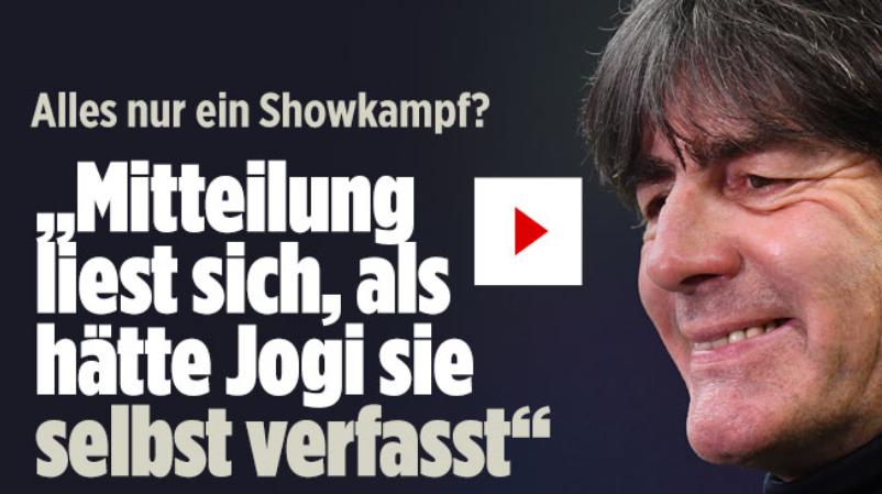 不满!图片报:德国足协的声明怕不是勒夫自己写的吧