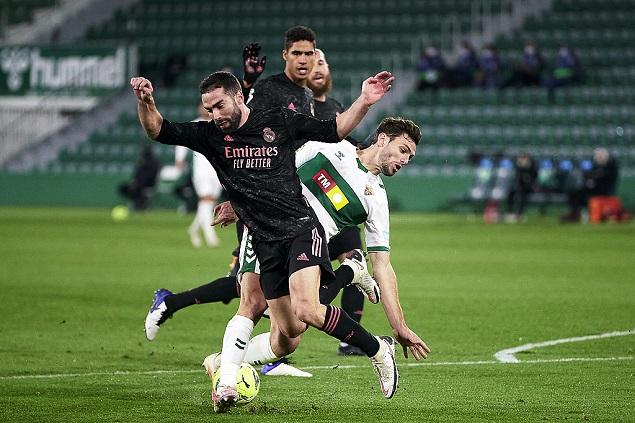 莫德里奇破门卡瓦哈尔送点,皇马1-1埃尔切落后第一2分