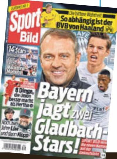 体图:拜仁追求门兴双中场,弗里克非常看好诺伊豪斯