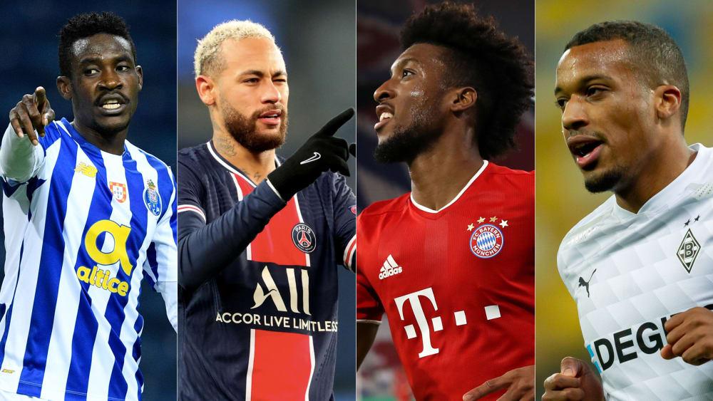 踢球者评欧冠小组赛最佳阵容:内马尔科曼门迪领衔