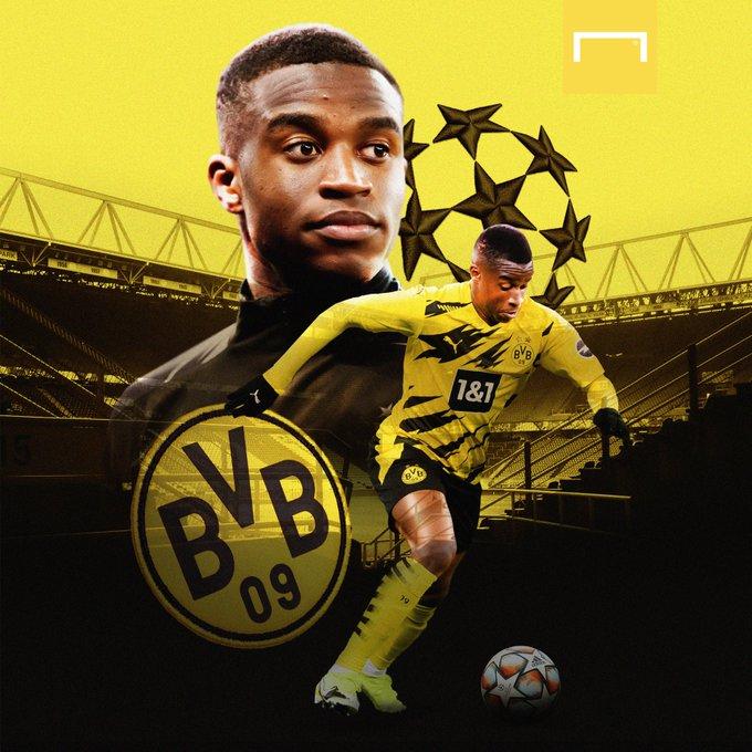 GIF:多特蒙德换上穆科科,成欧冠出场最年轻球员