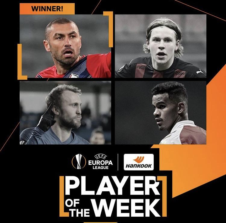 四分钟两球导演逆转,伊尔马兹当选欧联杯本周最佳球员 第1张