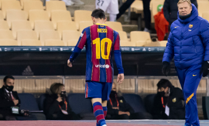 巴萨将为梅西的红牌上诉,足协裁决将在周二公布