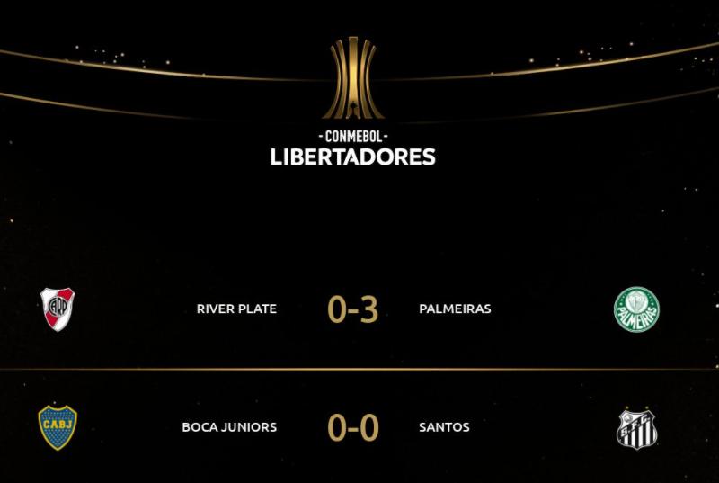 南美解放者杯半决赛首回合:河床3球惨败,博卡闷平桑托斯插图