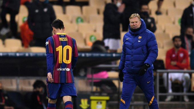 GIF:梅西肘击动作被红牌罚下,巴萨少一人作战