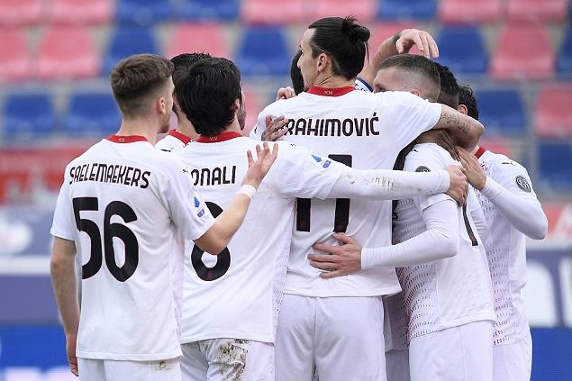 半场:伊布失点雷比奇补射破门,AC米兰客场1-0博洛尼亚