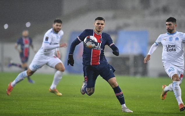 半场:伊卡尔迪补射破门+中梁,巴黎1-0马赛插图