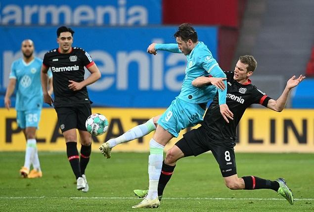 德甲:斯特芬送助攻巴库头槌取胜,勒沃库森0-1不敌狼堡