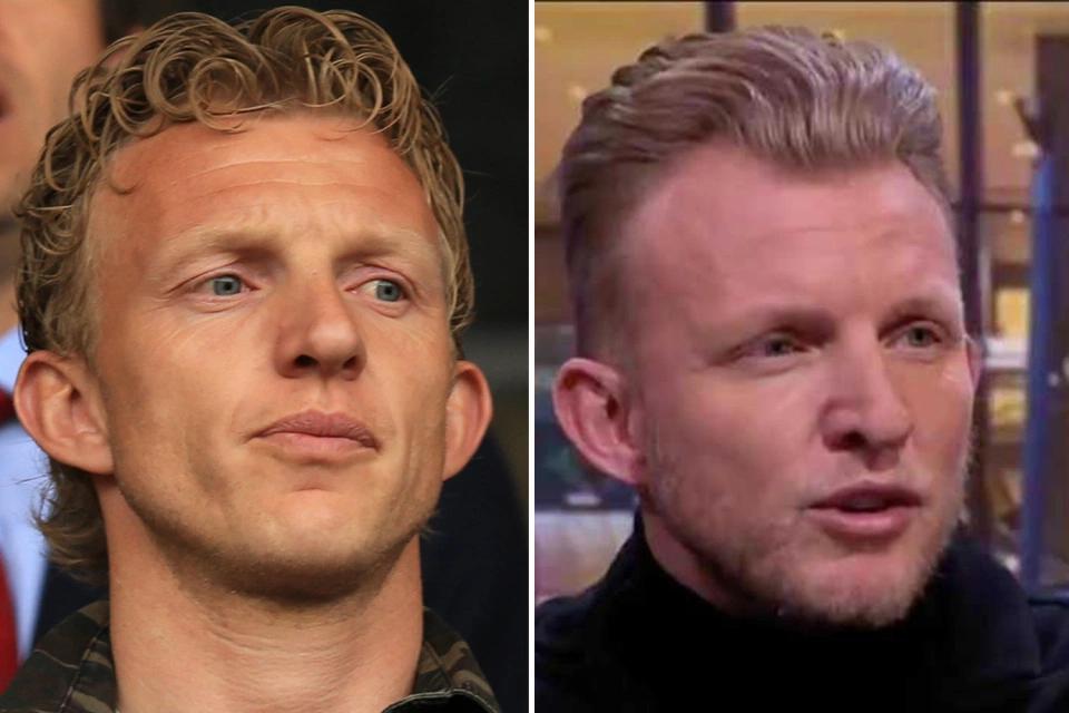 40岁的库伊特在露脸荷兰电视节目现场时,换了卷发的发型
