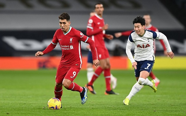 菲尔米诺建功孙兴慜破门被吹,热刺0-1利物浦