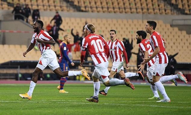 西超杯:梅西染红威廉姆斯传射建功,毕包3-2逆转巴萨夺冠