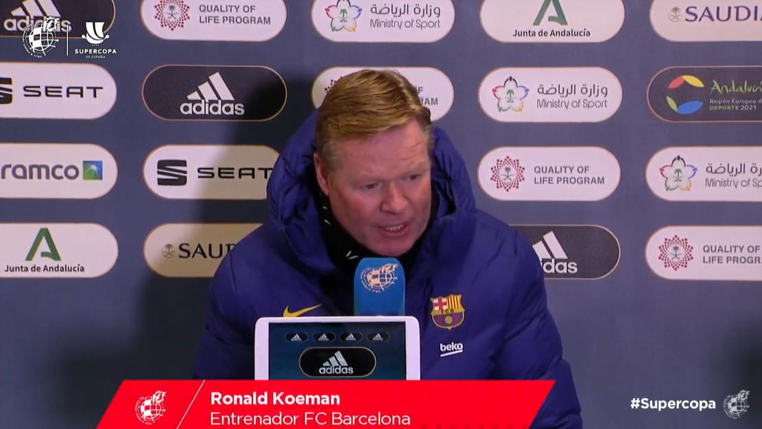 科曼:梅西上一场赛后有些不舒服,不过现在没事了