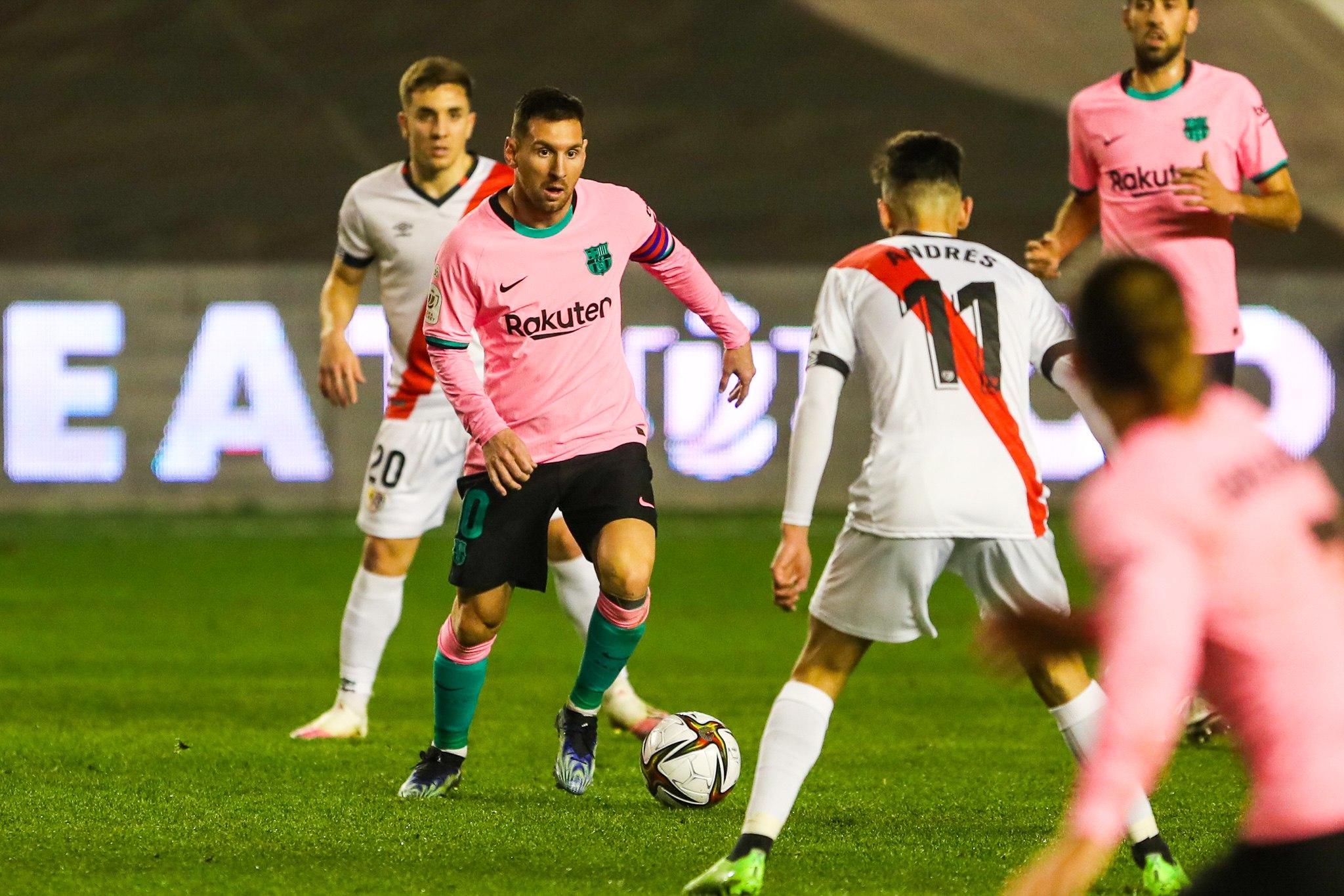 梅西国王杯出战76场位列队史赛事出场数第一,进54球夺6冠
