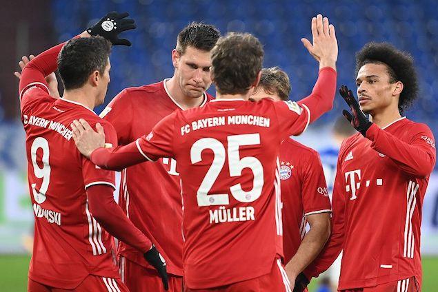 穆勒双响莱万破门基米希助攻戴帽,拜仁客场4-0沙尔克