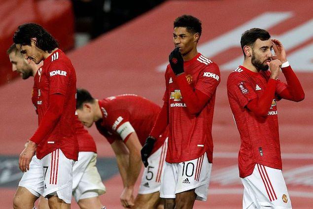 足总杯:B费百步穿杨萨拉赫双响难救主,曼联3-2逆转利物浦