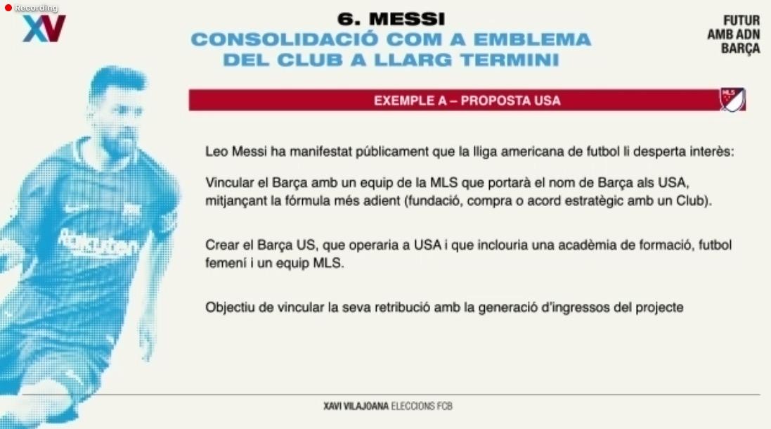 巴萨主席候选人:我们将为梅西在美国买或赠车一支球队