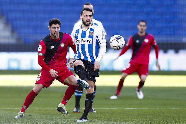 半场:普阿多德托马斯分别破门,西班牙人2-0巴列卡诺