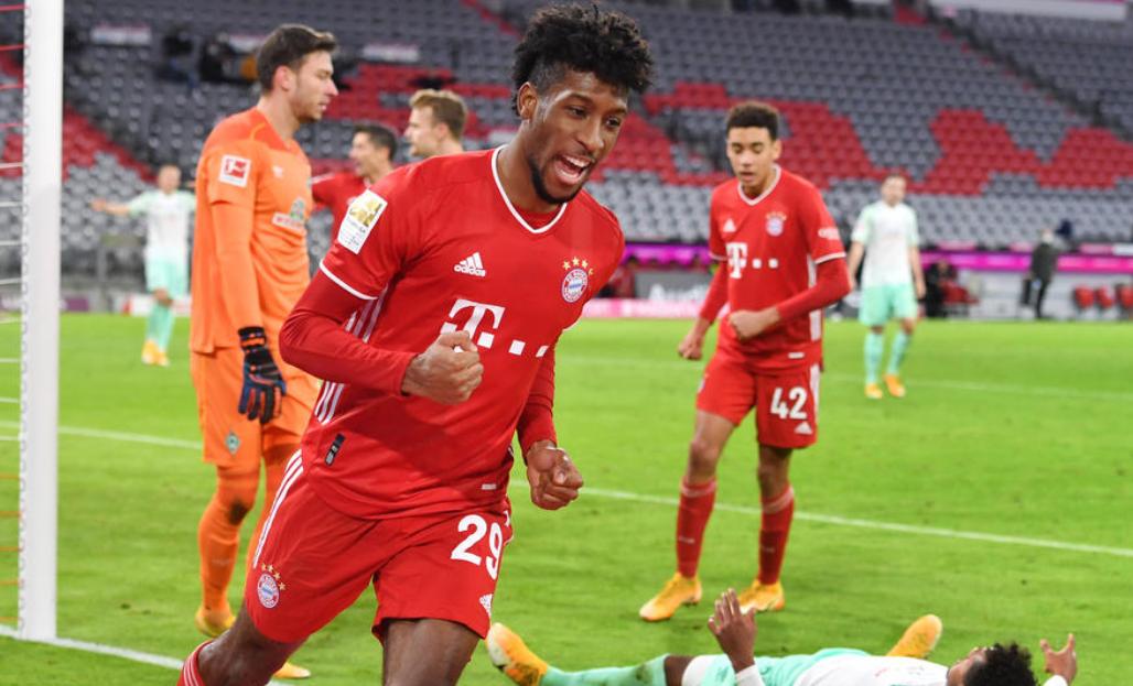 边锋评级中,拜仁慕尼黑边锋科曼排名榜首