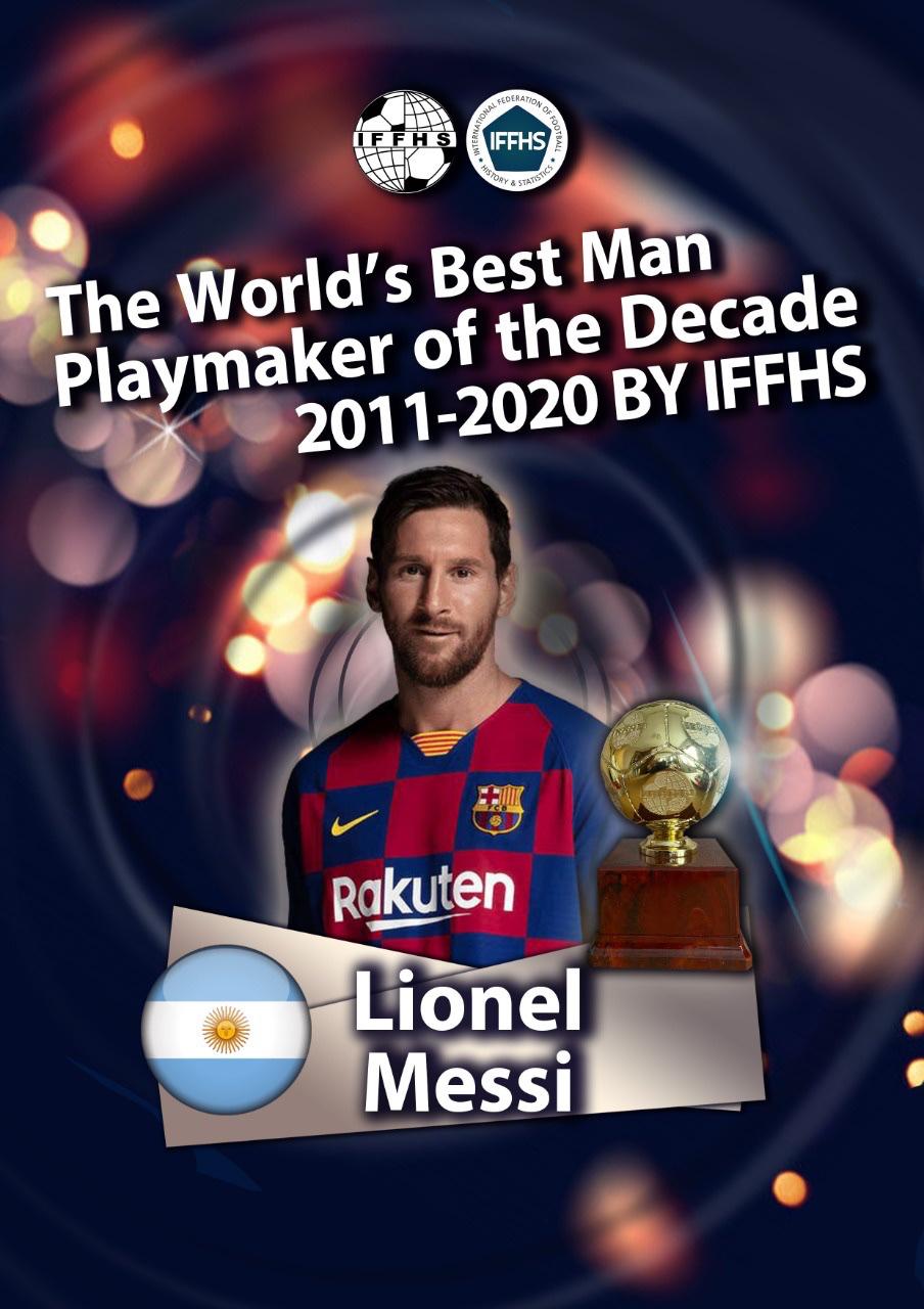 IFFHS近十年最佳组织球员:梅西第一,小白魔笛分列二三位插图
