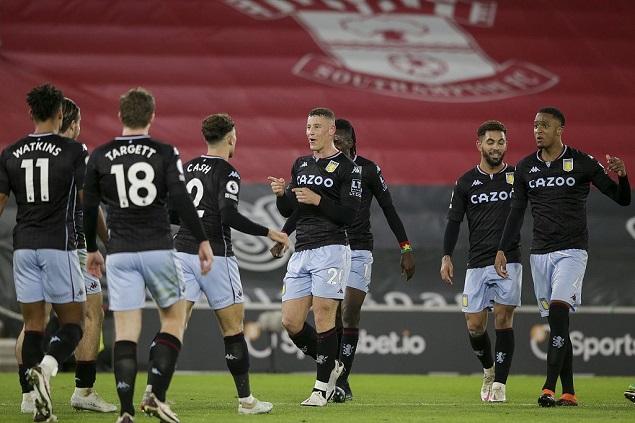 英超联赛第二十一轮,南安普顿主场0-1不敌阿斯顿维拉