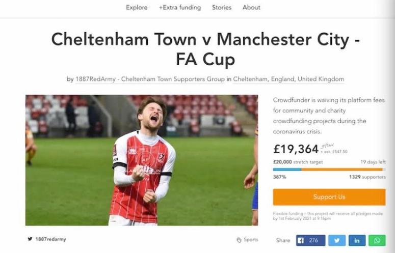 曼城球迷帮足总杯下轮对手筹到2万镑虚拟门票收入