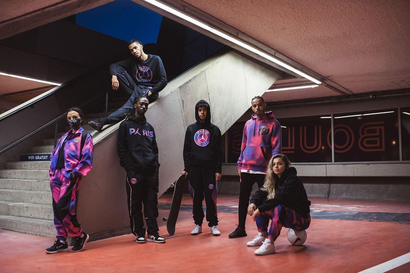 粉紫配!大巴黎发布最新一季AJ合作款服装及球鞋