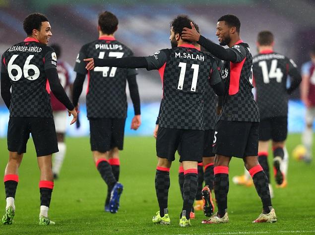 萨拉赫双响维纳尔杜姆建功,利物浦客场3-1西汉姆联升至第三