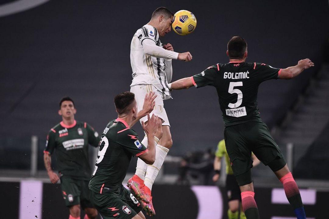C罗超越卢卡库登顶意甲射手榜,连续14个赛季进球超25个