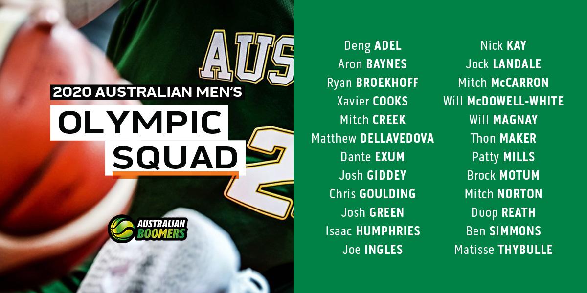 澳大利亚男篮宣布征战东京奥运会的初选大名单