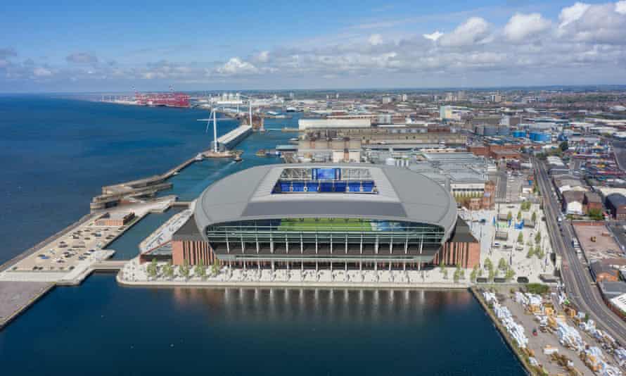 卫报:埃弗顿的新球场计划得到市议会批准,容纳52888人