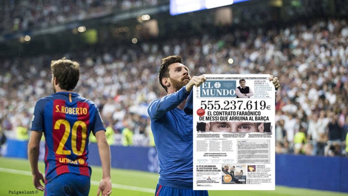 LaLiga主席捍卫梅西大合同:巴萨的问题不能怪他,要怪新冠
