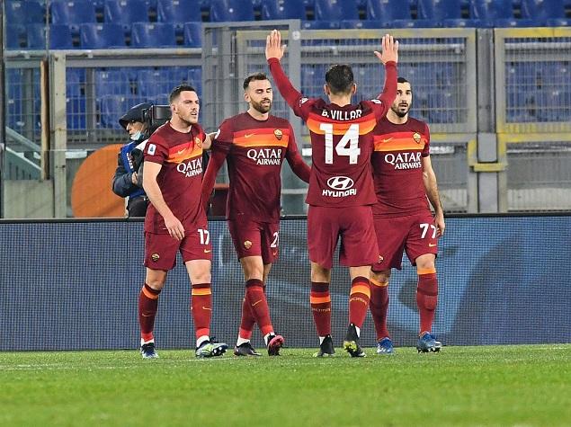 意甲:马约拉尔传射建功姆希塔良曼奇尼破门,罗马3-1维罗纳