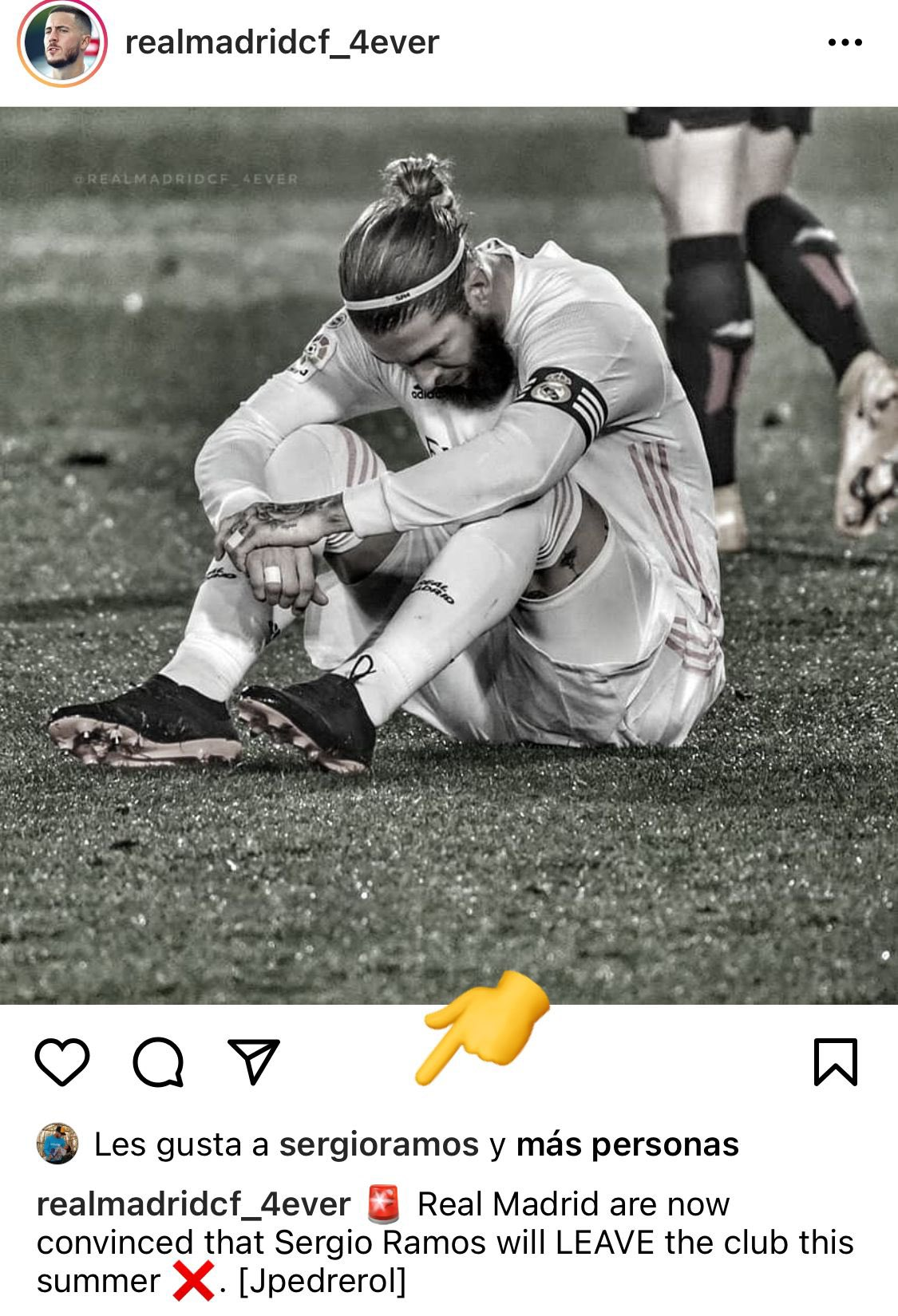 真的留不住了?拉莫斯Instagram点赞自己离队的新闻