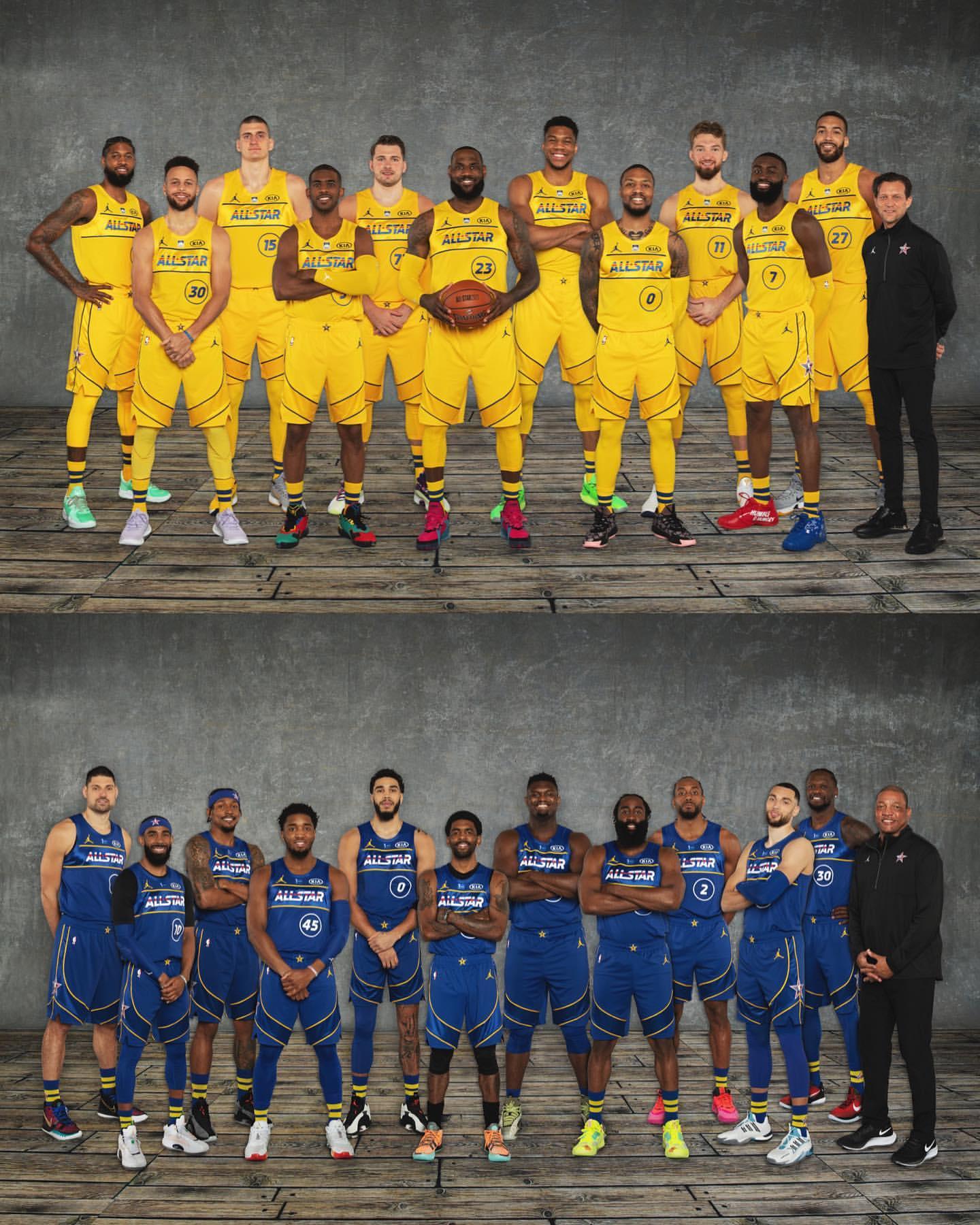 以假乱真!NBA官方发布今年全明星詹杜战队数字合成大合照