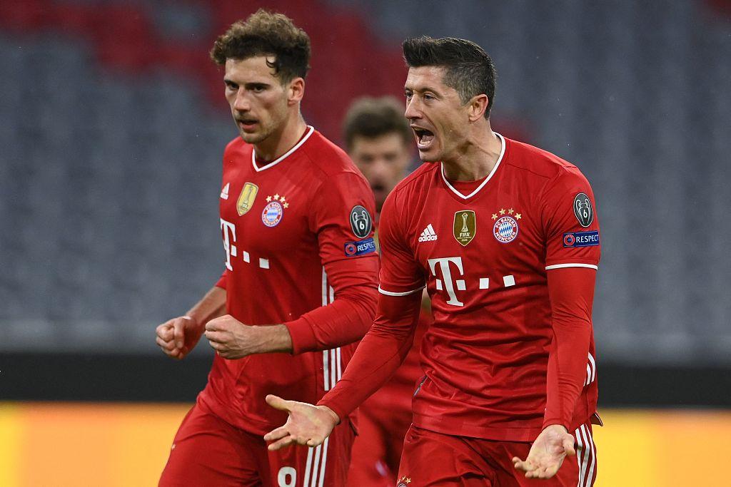 欧冠:莱万点射+中柱舒波莫廷破门,拜仁总分6-2拉齐奥晋级-欧凯
