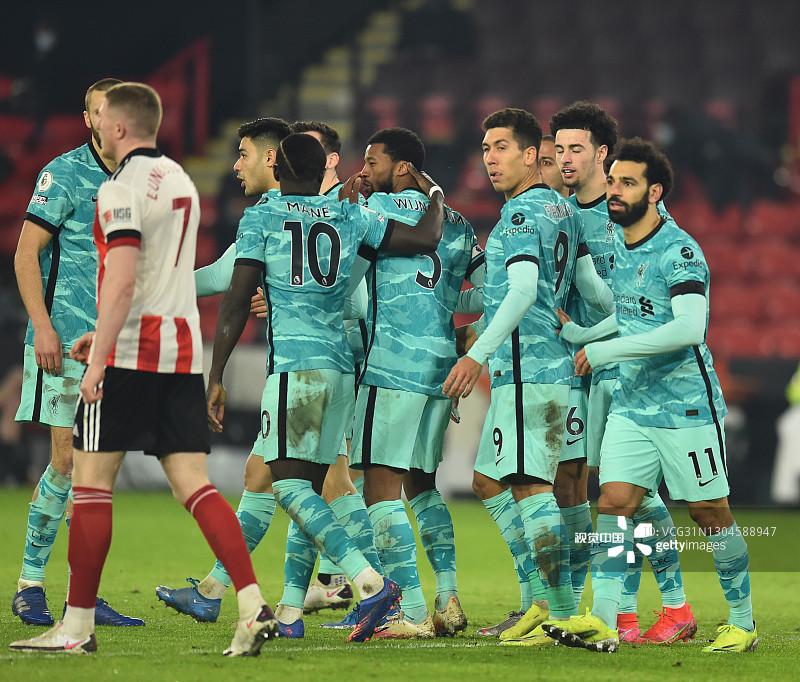 琼斯菲尔米诺建功,利物浦客场2-0谢菲联终止联赛四连败