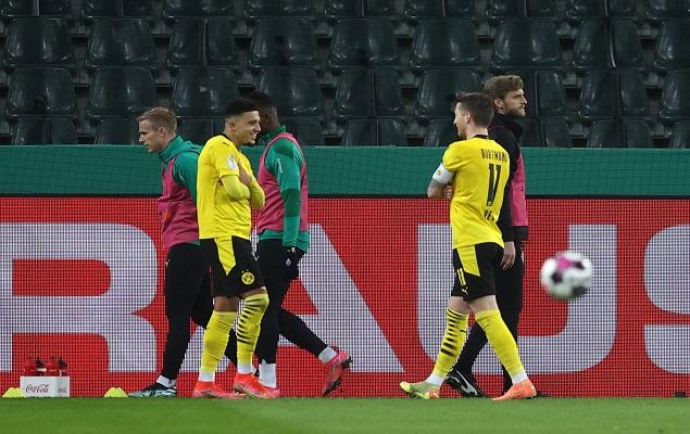 德国杯:哈兰德进球被吹桑乔破门,多特客场1-0门兴晋级
