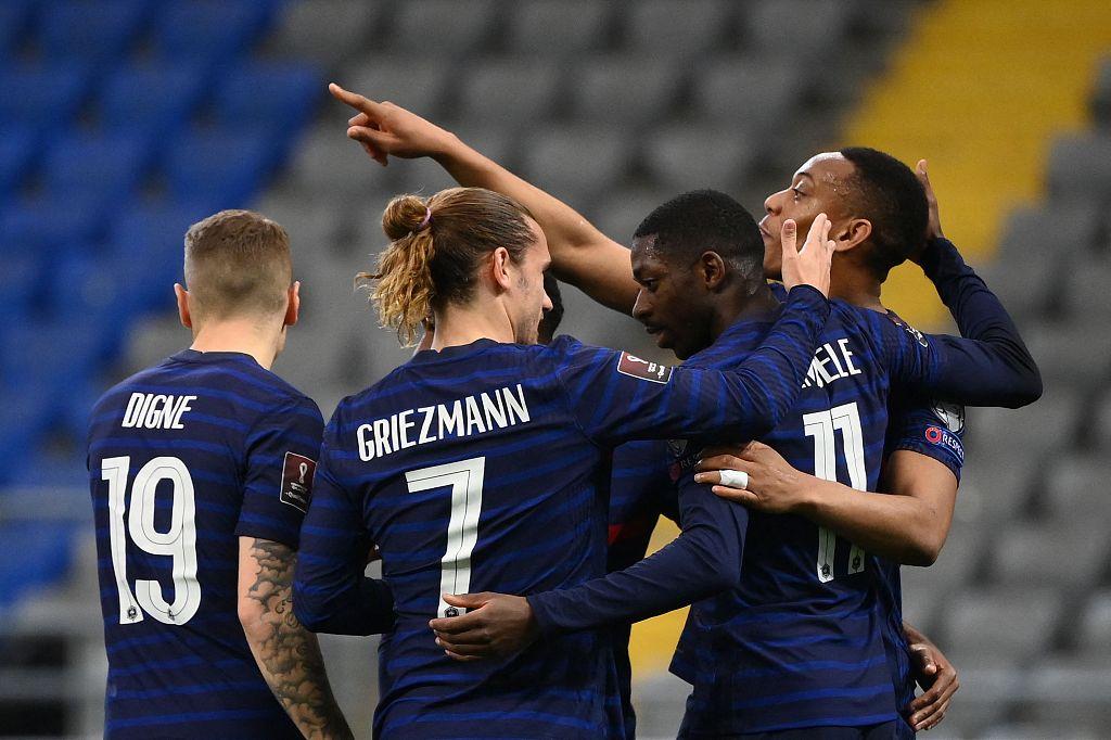 世预赛:登贝莱破门姆巴佩失点,法国客场2-0哈萨克斯坦