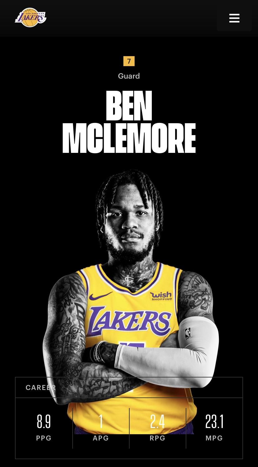 本-麦克勒摩将在湖人身穿7号球衣插图
