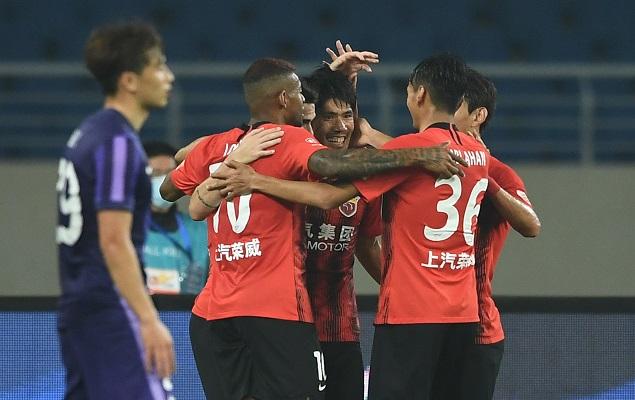 半场:奥斯卡助攻双响阿瑙吕文君破门,上海海港2-0津门虎